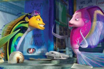 Oscar e Angie da animação o espanta tubarões