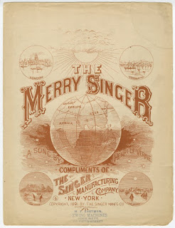 "Sheetmusic ""The Merry Singer,"" Singer Manufacturing Co. NY Public Library Digital Images"