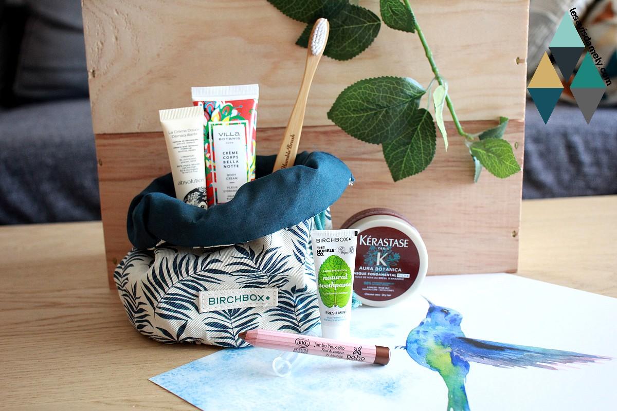 revue et test Birchbox beauté box mensuelle abonnement green bio naturelle