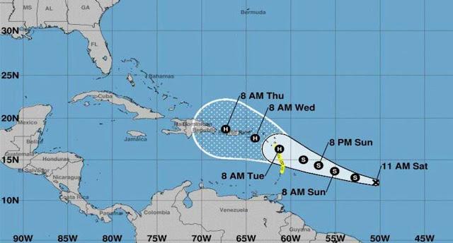 Pronostican que tormenta María afectará a Venezuela