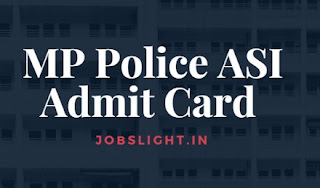 MP Police ASI Admit Card