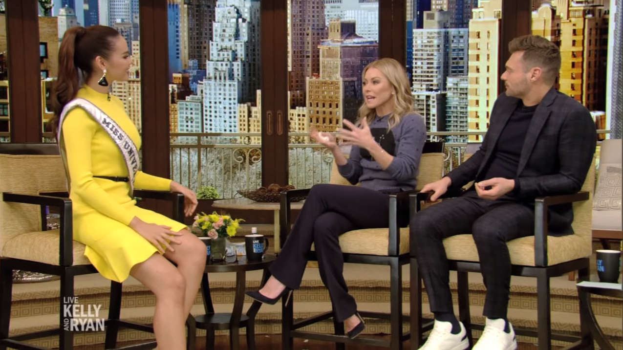 Catriona Gray on Live Kelly and Ryan
