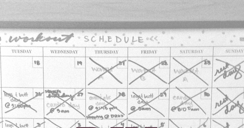 Whimsy and Willpower: DIY Workout Calendar
