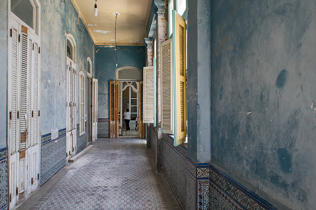 Couloir à l'intérieur du Palacio de Ferrer