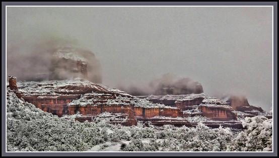 LA IMAGEN DEL DIA: Sedona, Arizona in the snow. 3
