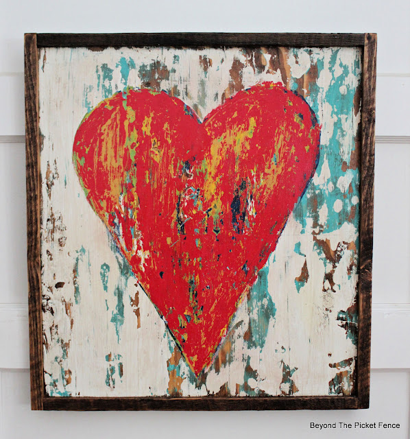 Rustic Heart Painting