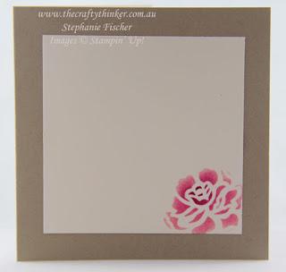 Detailed Floral Thinlits, Embossing Paste, Stencilling, #thecraftythinker, Stampin' Up Australia Demonstrator, Stephanie Fischer, Sydney NSW