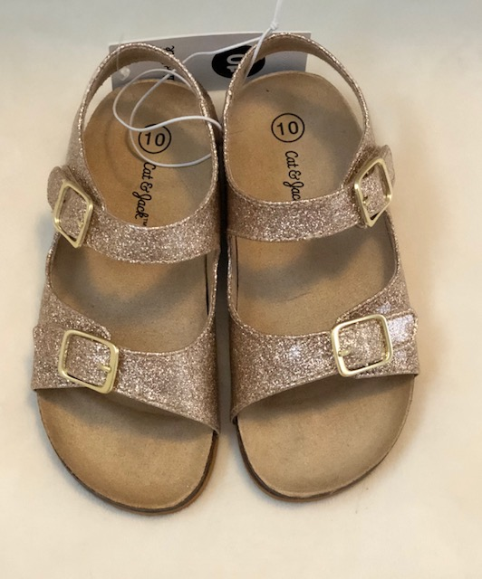 Cat & Jack Gold Sandals