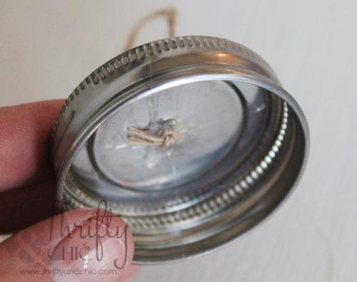 迷你梅森罐茶灯装饰 - 盐看起来像雪