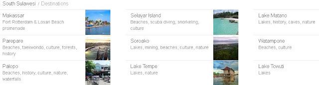 foto tempat wisata di daftar kabupaten dan kota di provinsi sulawesi selatan