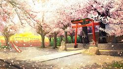 anime landscape background outdoor