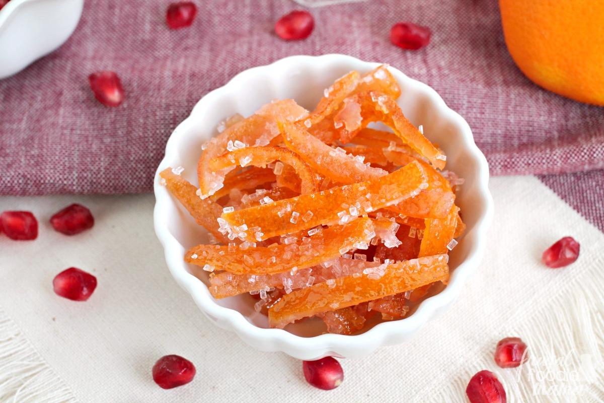 Frugal Foodie Mama: Candied Pomegranate-Mandarin Orange Peel