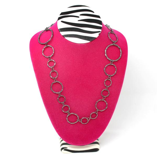 The Pink Zebra Print Large Necklace Display Bust is truly eye-catching | NileCorp.com