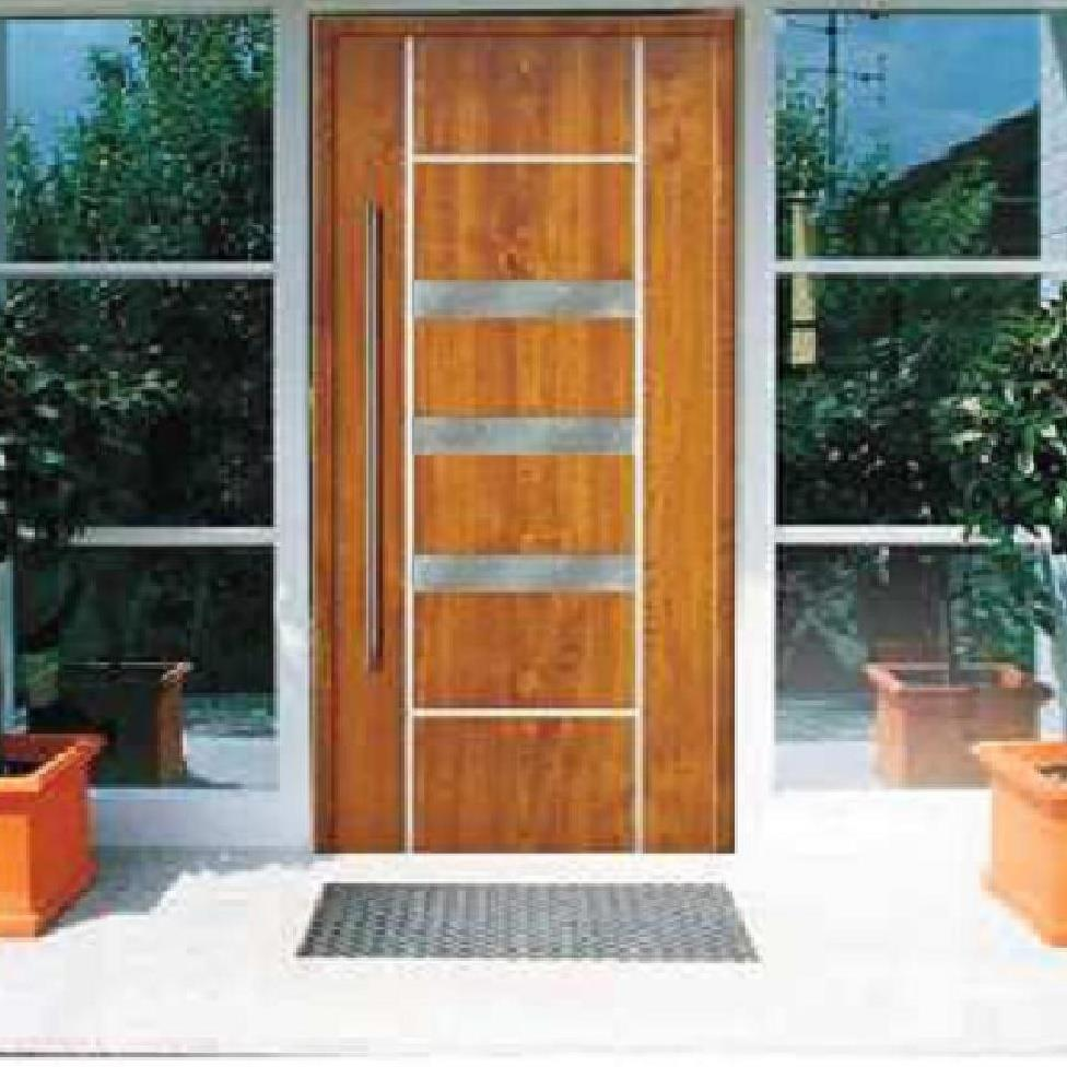 Todo puertas modernas en aluminio 2013 03 17 for Modelos de puertas de madera para puerta principal