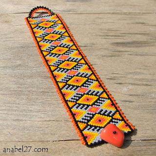 купить этнический стильные браслеты из бисера самые оригинальные браслеты