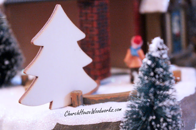 Wooden Christmas Tree Ornaments-Miniatures DIY Christmas Village Supplies Accessories To Paint On-DIY Christmas Craft Projects For Holidays by ChurchHouseWoodworks.com Set of 25