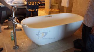 Quartz composite bathtub