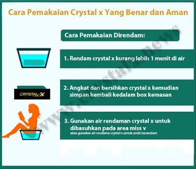 Cara pemakaian crystal x direndam