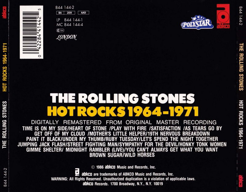 ENTRE MUSICA: THE ROLLING STONES - Hot Rocks 1964-1971 (2 CDs)