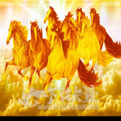 Vector Đàn Ngựa 8 mã in tranh.