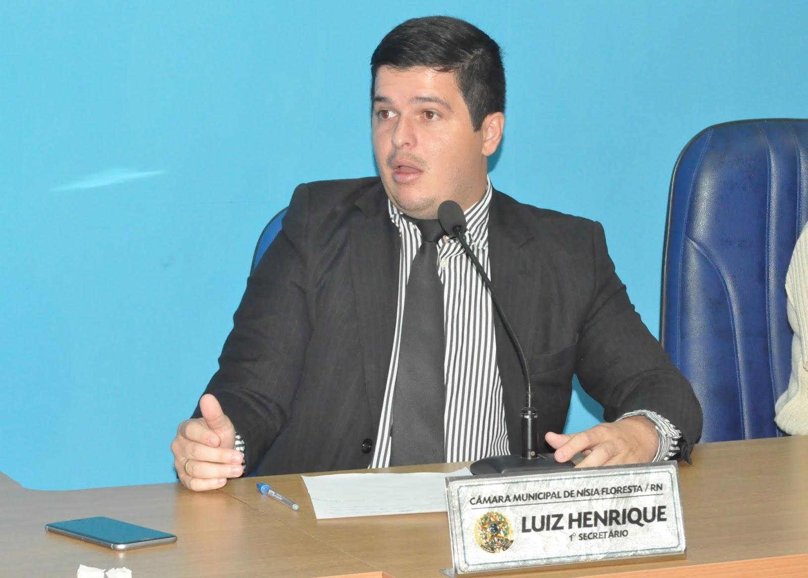 Resultado de imagem para vereador Luiz Henrique; nísia floresta