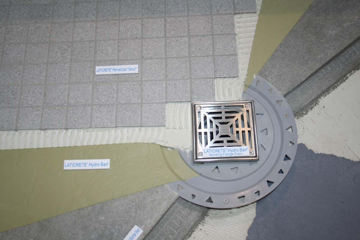 Laticrete Conversations: HydroBan Drain Installation