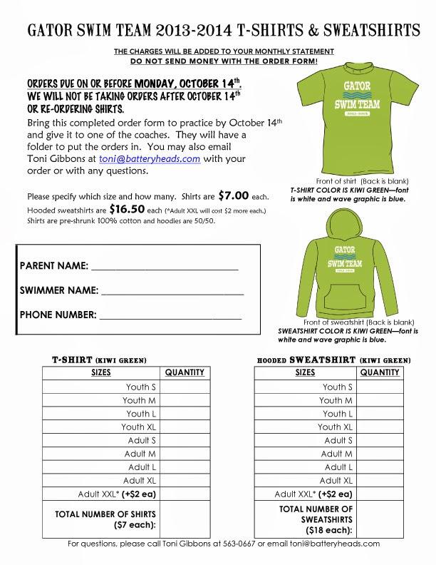 T-shirt fundraiser order form template | besttemplates13 | sample.