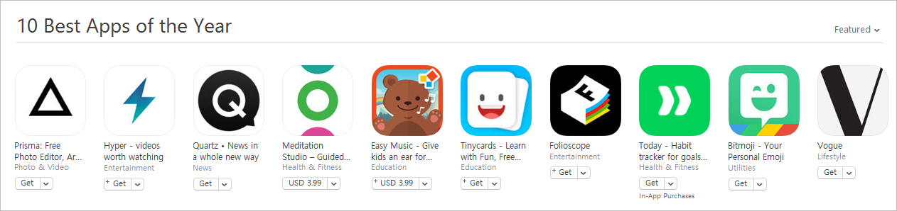 Apple Listed Best Apps And Games Of 2016 In App Store