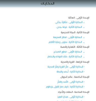 حكايات مرشدي في اللغة العربية للمستوى الثاني ابتدائي