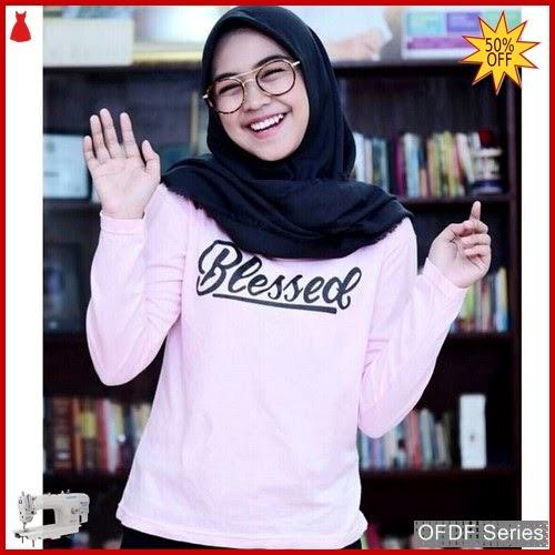 OFDF313 Atasan Blouse Tangan Panjang Blessed Modis BMGShop