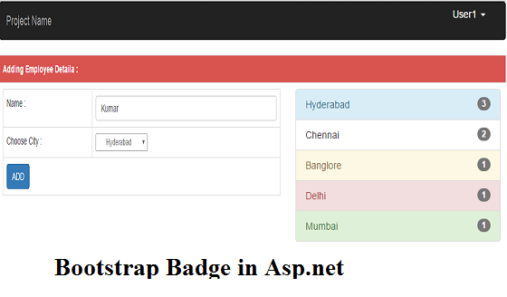 Bootstrap badges in asp.net