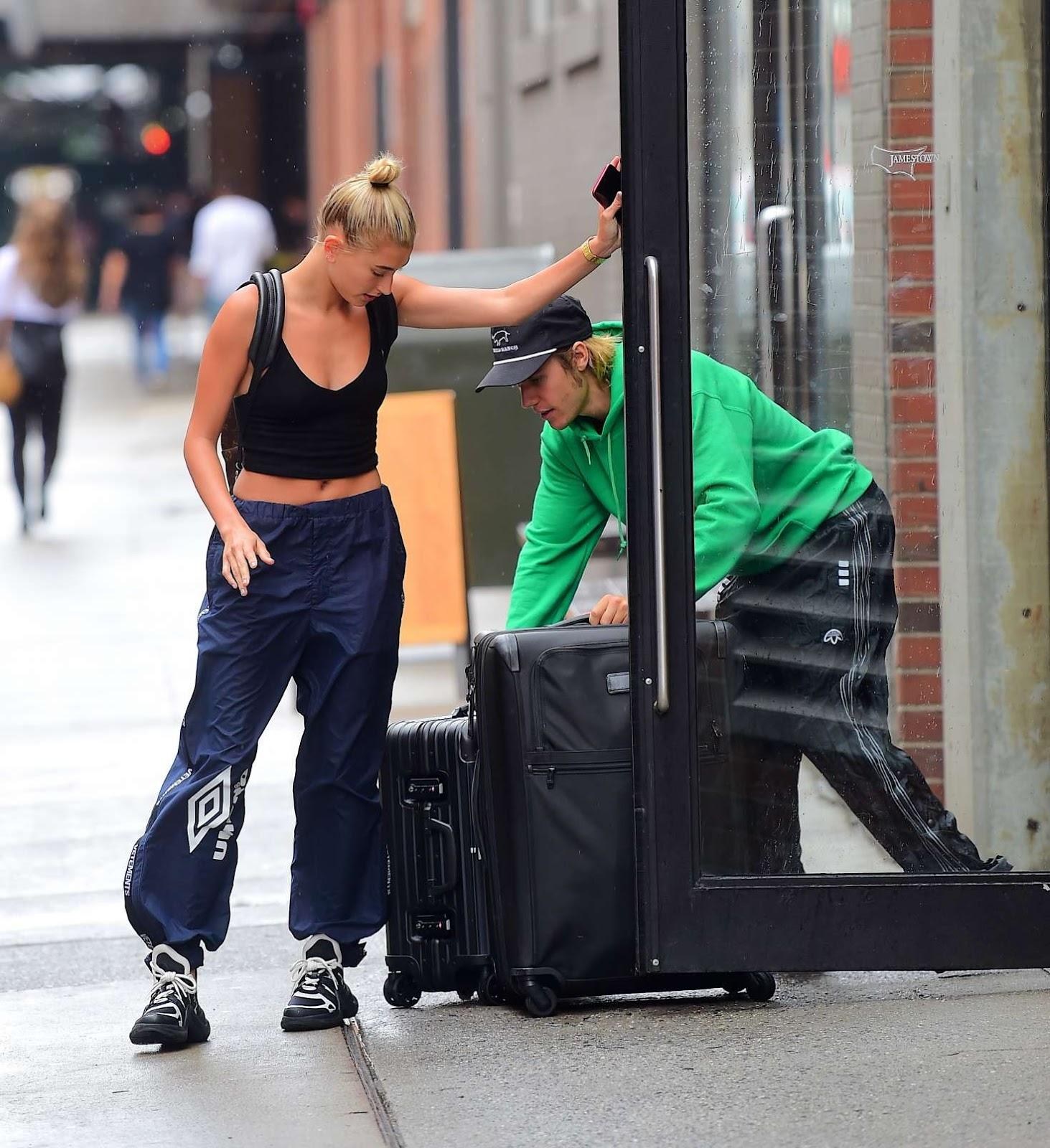 b59b315f5 Hailey Baldwin and Justin Bieber Leaves the Milk Studios in New York ...