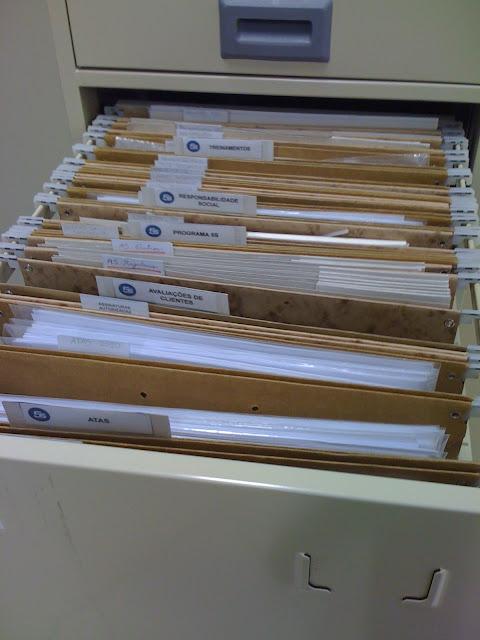 Como organizava meus arquivos de trabalho no SENAI