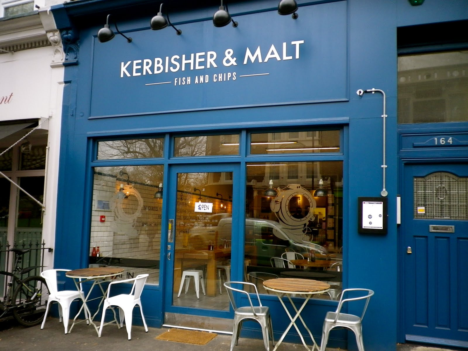 Kerbisher Malt Fish And Chip Shop Hammersmith Thoroughly Modern Milly