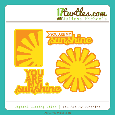 You Are My Sunshine Free Digital Cutting File by Juliana Michaels