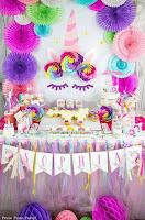 Decoración temática de unicornios fiesta de cumpleaños
