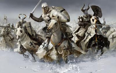 Ilutrasi perang salib berkuda