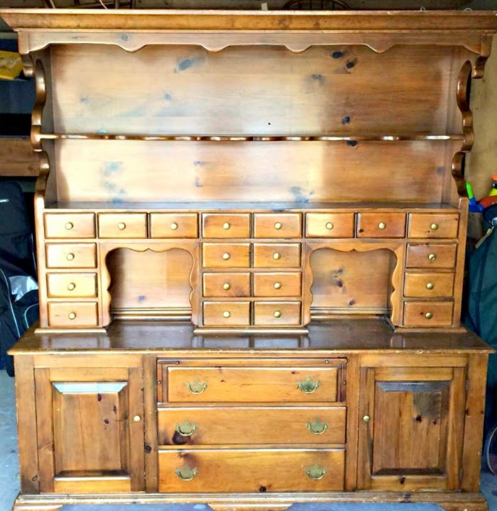 A Giant DIY Painted Hutch and the Story