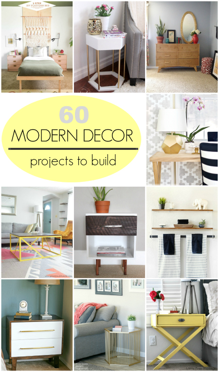 roundup 60 modern decor projects to build yourself