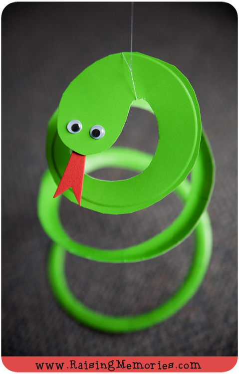 Paper Plate Snake Puppet Craft