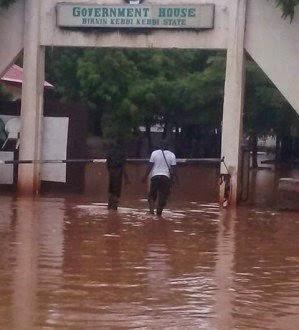Photo: Flood Rocks Kebbi Government House