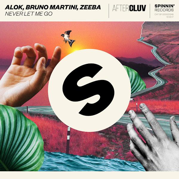 Alok, Bruno Martini & Zeeba - Never Let Me Go - Single Cover