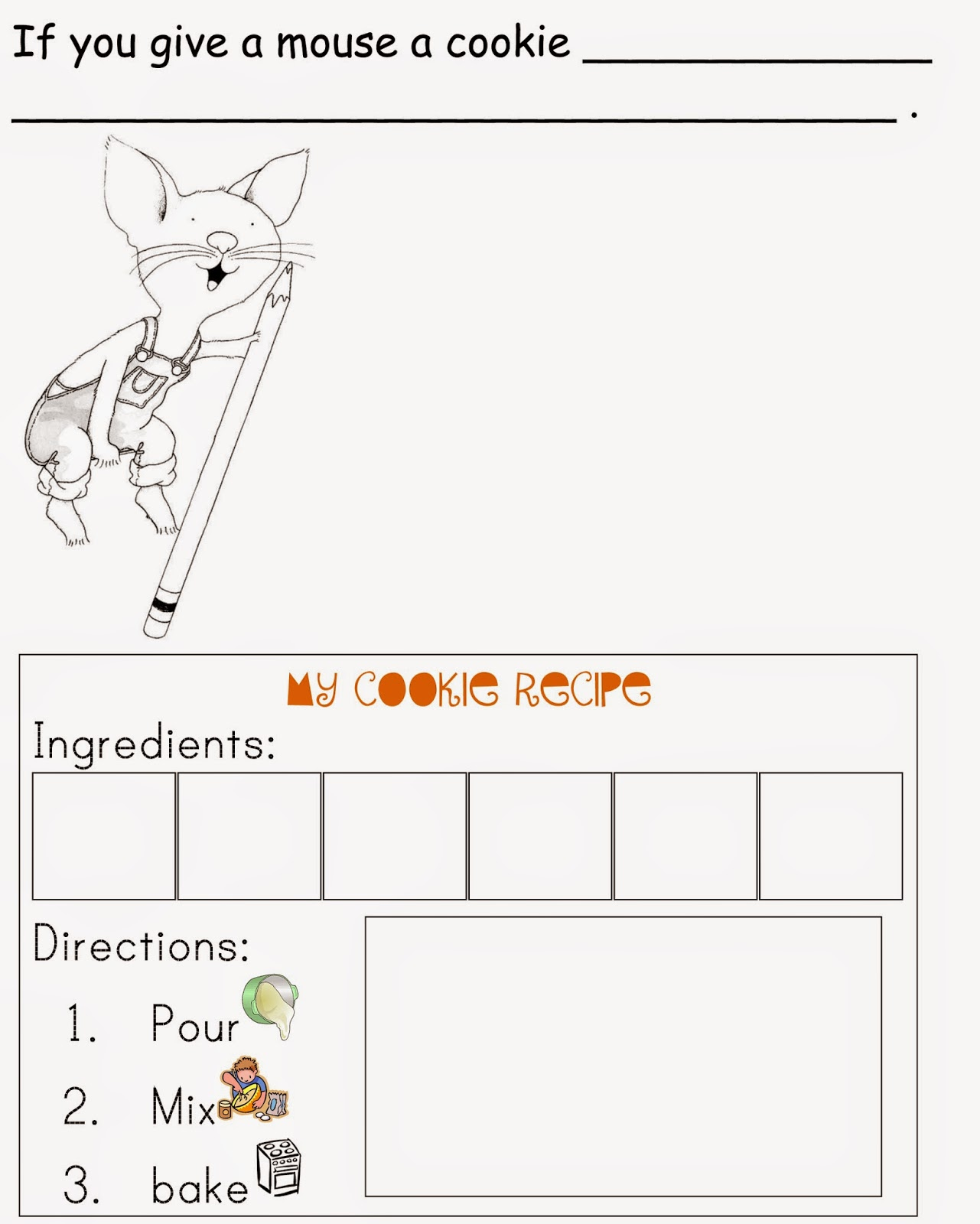 Worksheets If You Give A Mouse A Cookie Worksheets inspiration organization if you give a mouse cookie worksheets worksheets