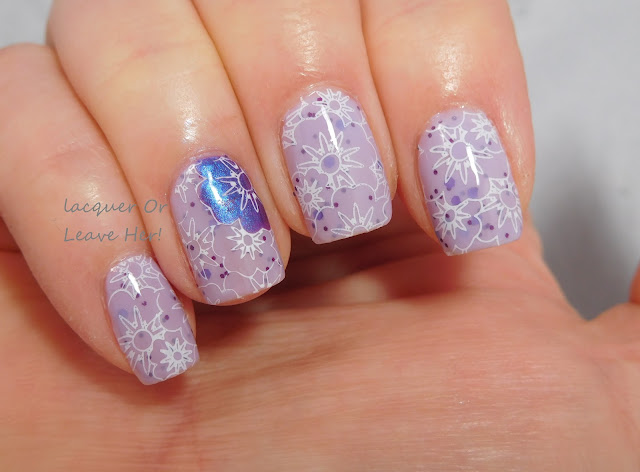 Spring showers bring pretty flowers with UberChic Beauty 7-01 and Spellbound Nails Peep Show