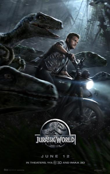 Poster of Jurassic World 2015 720p Hindi BRRip Dual Audio Full Movie Download