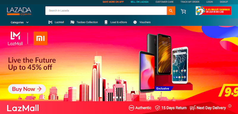 Lazada opens their LazMall for the upcoming 9.9. Sale
