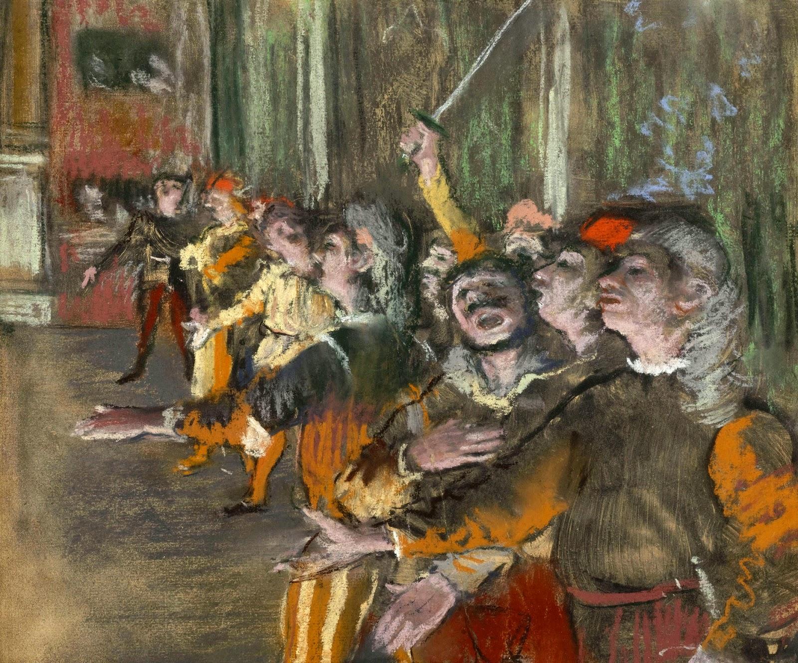 O Coro - Edgar Degas e suas principais pinturas ~ O Pintor de Bailarinas