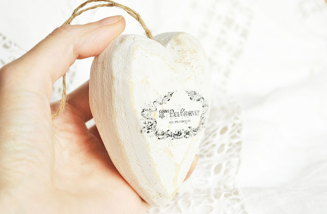 сердце деревянное декупаж