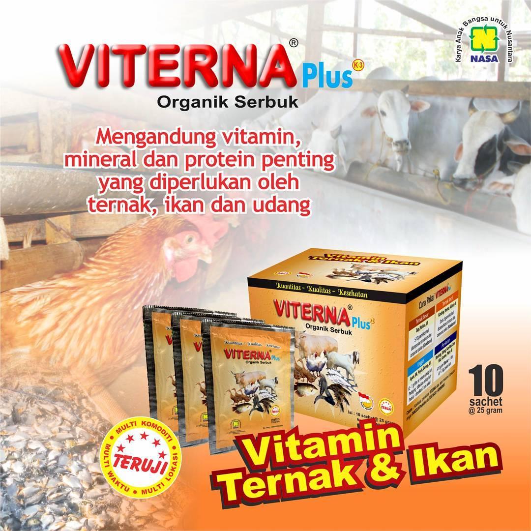 Viterna Plus Organik Serbuk, Vitamin Penggemuk Ternak & Ikan
