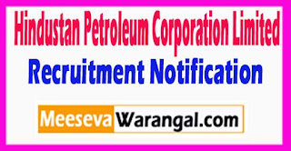 HPCL Hindustan Petroleum Corporation Limited Recruitment Notification 2017 Last Date 08-06-2017